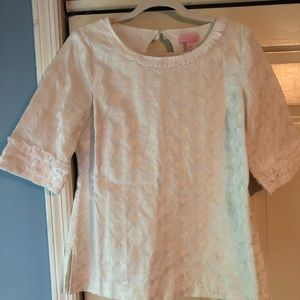 Lilly Pulitzer white embroidered top